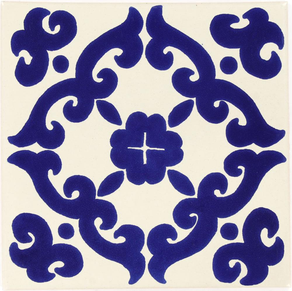 6x6 Blue Kiosco - Talavera Tile