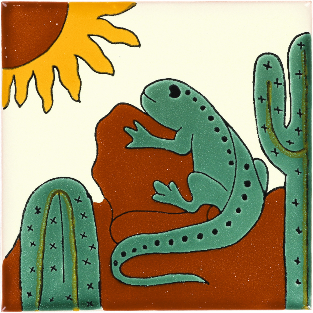 Iguana Talavera Mexican Tile