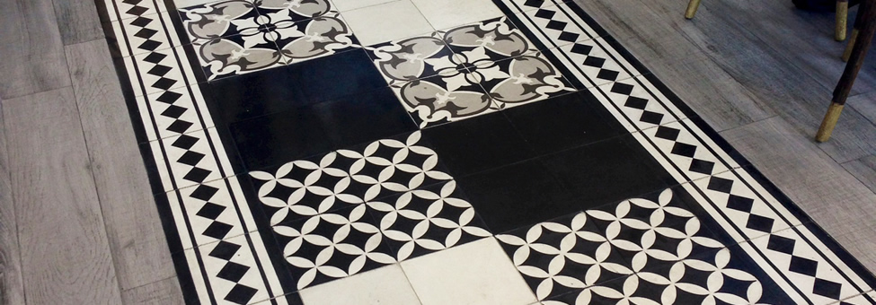 Borders Barcelona Cement Floor Tiles
