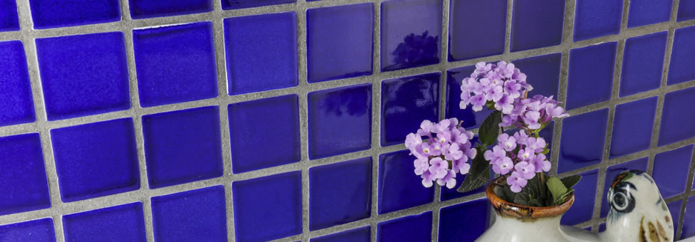 Mozaik Ceramic Tile Mesh Mounted Square Tiles