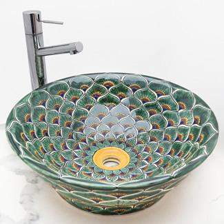 talavera-ceramic-handpainted-round-vessel-above-counter