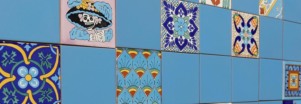 Talavera Mexican Ceramic Field Tile