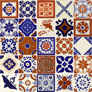 Handcrafted Mexican Talavera Tile