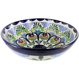Hand Painted Mexican Talavera Ceramic Sinks