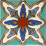 Hand painted Santa Barbara Ceramic Tile