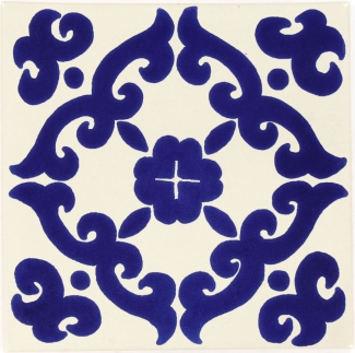 6x6 Blue Kiosco Talavera Mexican Tile