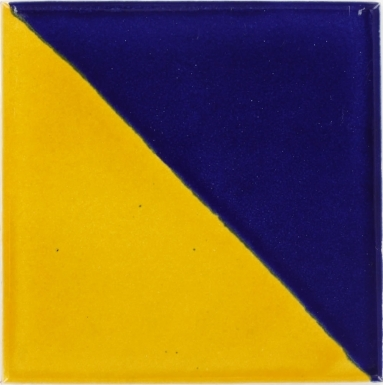 Blue & Yellow Harlequin Talavera Mexican Tile