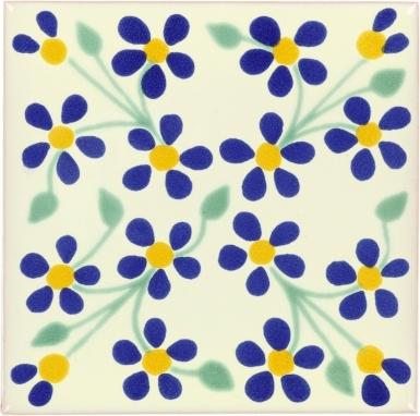 Violets Talavera Mexican Tile