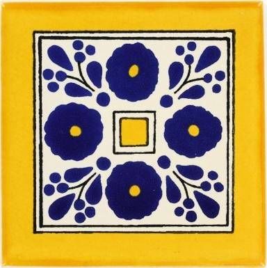 Amapola Azul Talavera Mexican Tile