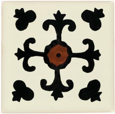 Valencia Black Talavera Mexican Tile