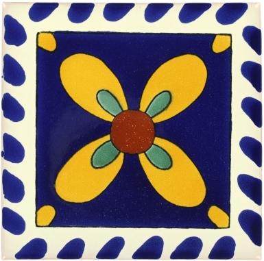 Mono Azul-Amarillo Talavera Mexican Tile