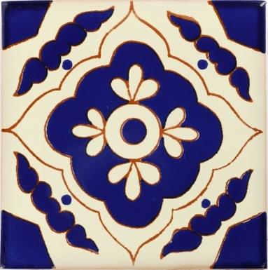 Toledo Azul Talavera Mexican Tile
