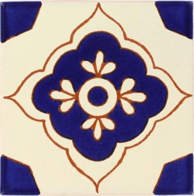 Toledo Azul 2 Talavera Mexican Tile