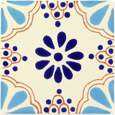 Turquoise & Blue Lace Talavera Mexican Tile