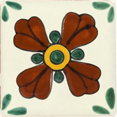 Green Seville 2 Talavera Mexican Tile