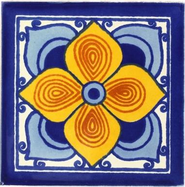 Flor Sevillana Talavera Mexican Tile