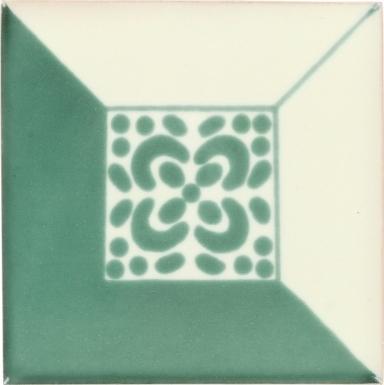 Green Patzcuaro Talavera Mexican Tile