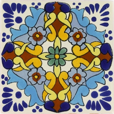 Turquoise Grace Talavera Mexican Tile