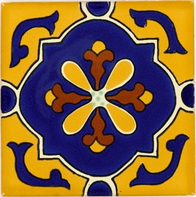 Libro Gold Yellow Talavera Mexican Tile