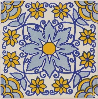 Blue Monarca Talavera Mexican Tile