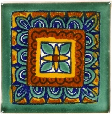 Green Veleta Talavera Mexican Tile