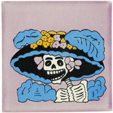 Catrina 1 Talavera Mexican Tile