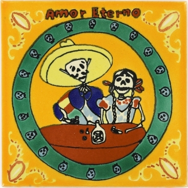 Amor Eterno with Yellow Talavera Mexican Tile