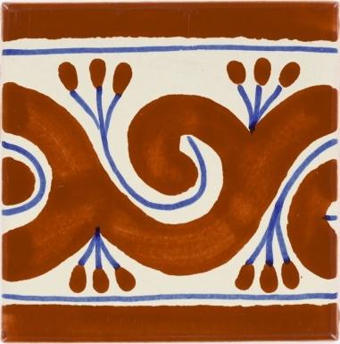Ola Terra Cotta Talavera Mexican Tile