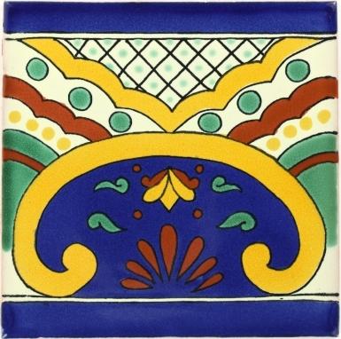 Puebla Border Talavera Mexican Tile