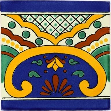 6x6 Puebla Border - Talavera Mexican Tile by Size