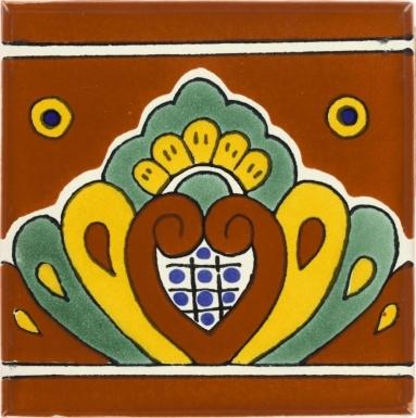 Terra Cota Shell Talavera Mexican Tile