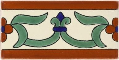 Flor de Liz Talavera Mexican Tile