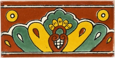 Terra Cotta Shell Talavera Mexican Tile