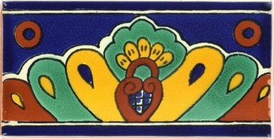 Blue Shell Talavera Mexican Tile