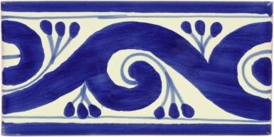 Ola Azul Talavera Mexican Tile