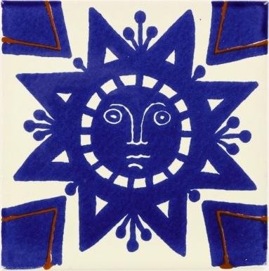 Geometric Sun Talavera Mexican Tile