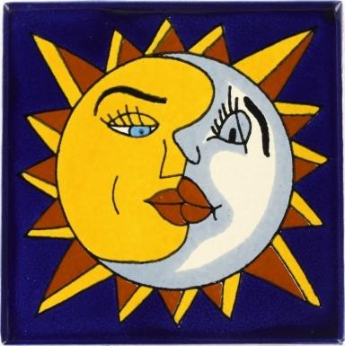 Sol y Luna Talavera Mexican Tile