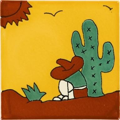 Peasant 3 Talavera Mexican Tile