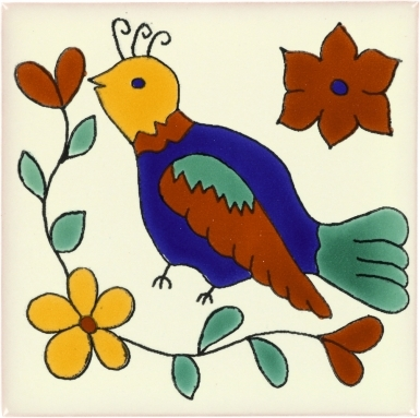 Bird 4 Talavera Mexican Tile