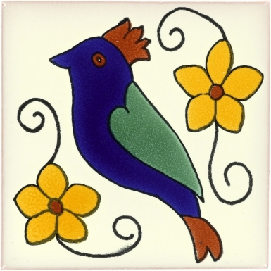 Bird 3 Talavera Mexican Tile