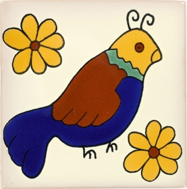 Bird 2 Talavera Mexican Tile