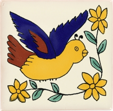 Bird 1 Talavera Mexican Tile