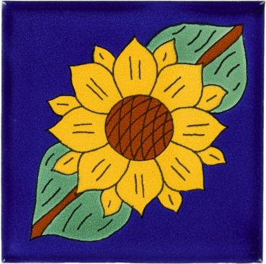 Sunflower 2 Talavera Mexican Tile