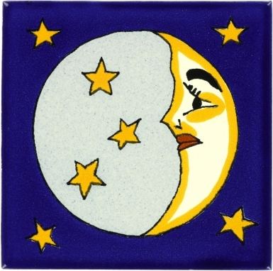Quarter Moon Talavera Mexican Tile