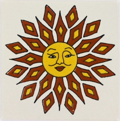 Diamond Sun Talavera Mexican Tile