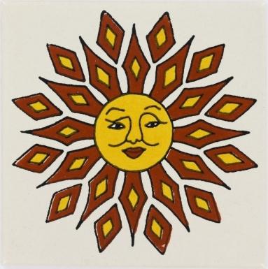 Diamond Sun Talavera Mexican Tile