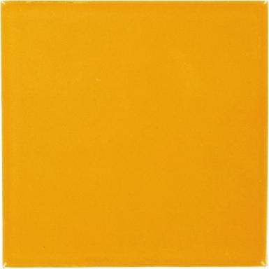 Tangerine Yellow Talavera Mexican Tile