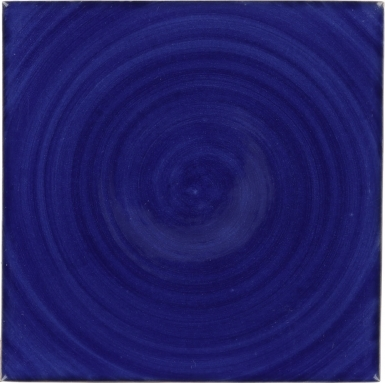 Swirling Blue Talavera Mexican Tile