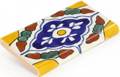 Surface Bullnose: Guadalajara - Talavera Mexican Tile