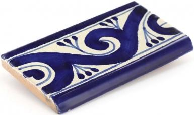 Surface Bullnose: Ola Azul - Talavera Mexican Tile